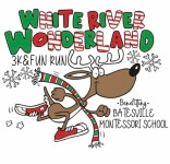 The White River Wonderland 3K & Fun Run registration logo