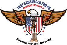 They Sacrificed for US- Honoring the Fallen 12 registration logo