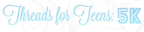 Threads for Teens 5K registration logo