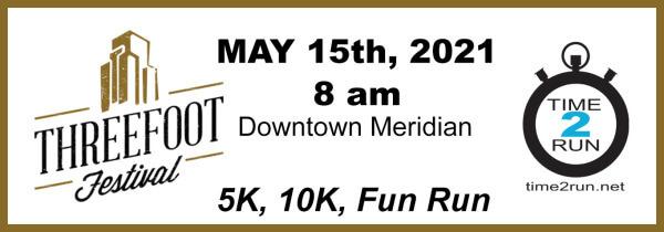 Three Foot Festival 5K 10K Fun Run registration logo