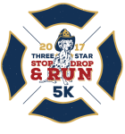 Three Star Stop, Drop, and Run 5K registration logo
