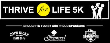 Thrive For Life Autism 5k Fun Run/Walk  registration logo