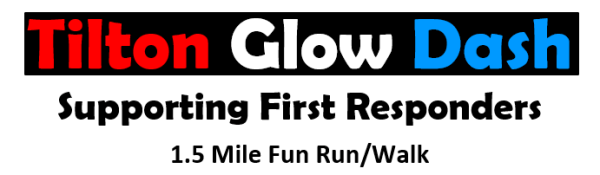 Tilton Glow Dash Supporting First Responders registration logo