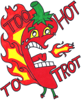 Too Hot to Trot VIRTUAL 5K Walk/Run registration logo