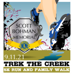 Trek the Creek 5K registration logo