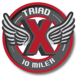 Triad Ten Miler registration logo