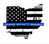 Trooper Kenny Velez - TKV 5.11K / 1 mile walk  registration logo