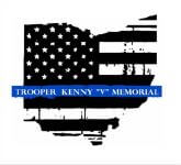 Trooper Kenny Velez - TKV 5.11K / 1 mile walk  registration logo