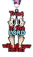 Trust in the Lord 1M 5K 10K 13.1 26.2 registration logo