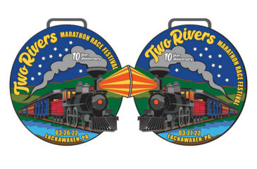 Two Rivers Marathon Race Festival 10th Anniversary registration logo