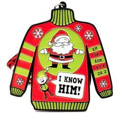 Ugly Sweater Day 1M 5K 10K 13.1 26.2 registration logo