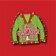 Ugly Sweater Race registration logo