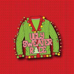 Ugly Sweater Race registration logo
