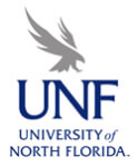 UNF SPTA 5k Run registration logo