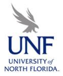 UNF SPTA 5k Run registration logo