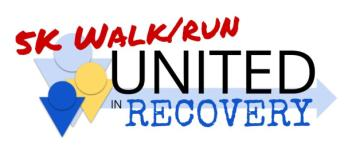 United in Recovery 5K Walk/Run registration logo