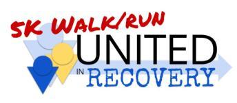 United in Recovery 5K Walk/Run registration logo