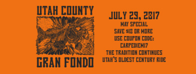 Utah County Gran Fondo and 5K  registration logo