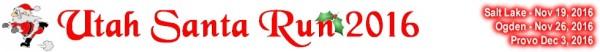 Utah Santa Run registration logo