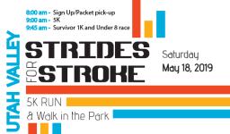 Utah Valley Strides for Stroke registration logo