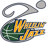 Utah Wheelin Jazz 5k Road to Recovery registration logo