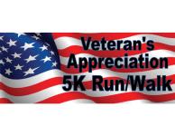 Veteran's Appreciation 5K registration logo