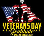 Veterans Day 1 Mile, 5K, 10K, 13.1, 26.2 registration logo