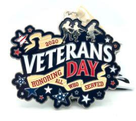 Veterans Day 1M 5K 10K 13.1 26.2 registration logo