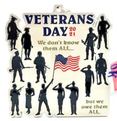 Veterans Day 1M 5K 10K 13.1 and 26.2 registration logo
