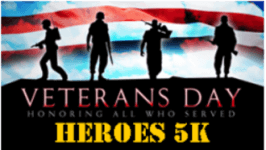 Veteran's Day 5K and 1M Fun Run registration logo