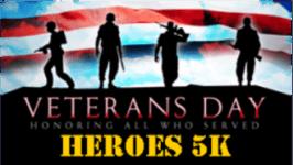Veteran's Day 5K and 1M Fun Run registration logo