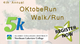 OKtobeRun 5k registration logo