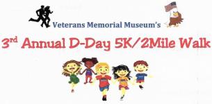 Veteran's Museum D Day 5K and Fun Run registration logo
