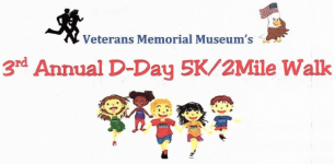 Veteran's Museum D Day 5K and Fun Run registration logo