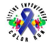 Victims Empowerment Color Run registration logo