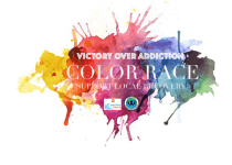Victory Over Addiction Color Race registration logo