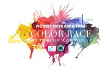 Victory Over Addiction Color Race registration logo