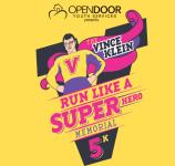 Vince Klein Run like a Superhero Memorial 5K registration logo
