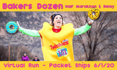 Virtual Bakers Dozen Half Marathon registration logo
