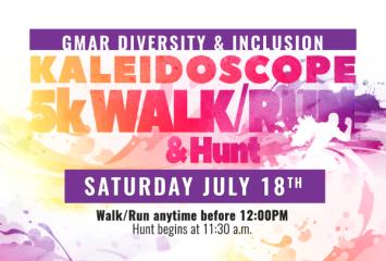 Virtual Kaleidoscope Walk, Run, and Scavenger Hunt registration logo