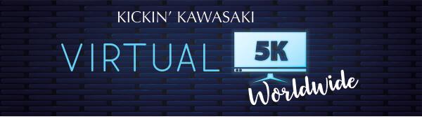 Virtual Kickin' Kawasaki 5K Worldwide registration logo