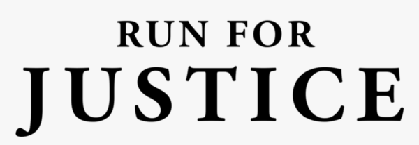 Virtual Run for Justice registration logo
