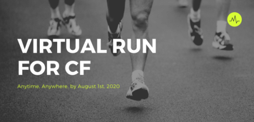 Virtual Run for Cystic Fibrosis registration logo