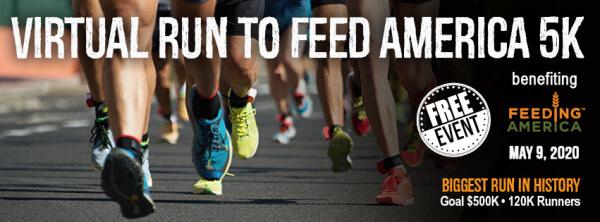 Virtual Run to Feed America 5k registration logo