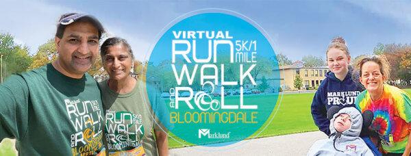 VIRTUAL Run, Walk & Roll 5K/1Mile registration logo