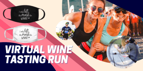 Virtual Wine Tasting Run registration logo