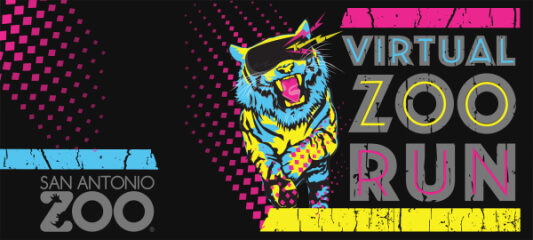 Virtual Zoo Run registration logo