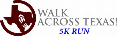 Walk Across Texas 5K Run registration logo