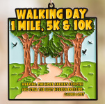 Walking Day 1 Mile, 5K, 10K registration logo