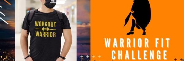 Warrior Fit Run Challenge Anywhere registration logo